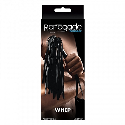 / Плетка Renegade Bondage - Whip - Black